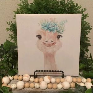 Special moments ostrich canvas picture